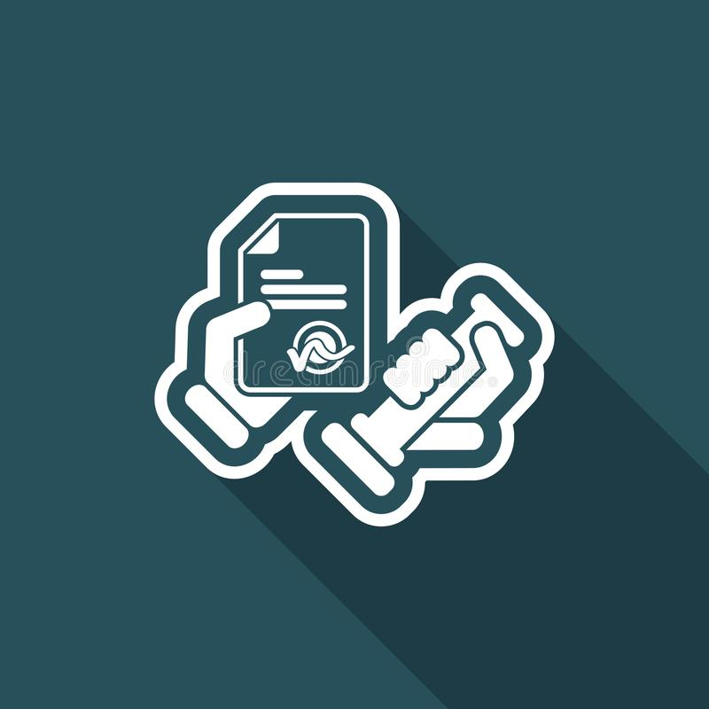 Stamp icon vector illustration
