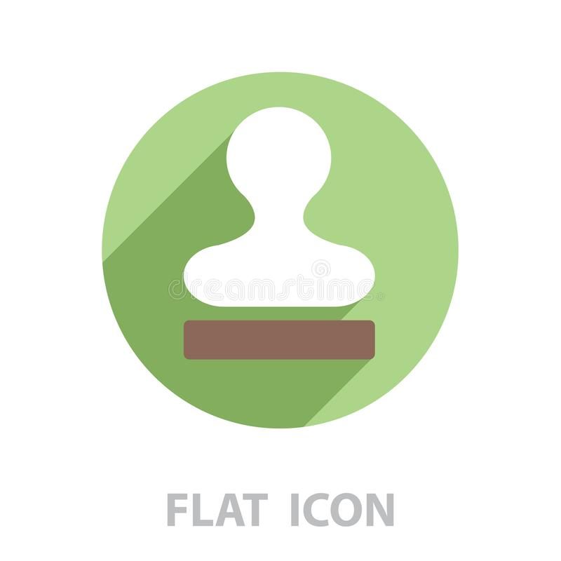 Stamp icon vector. vector stock illustration