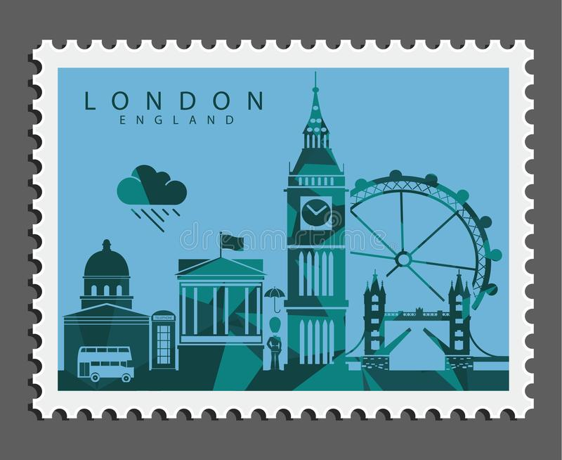 Stamp of London England royalty free stock image