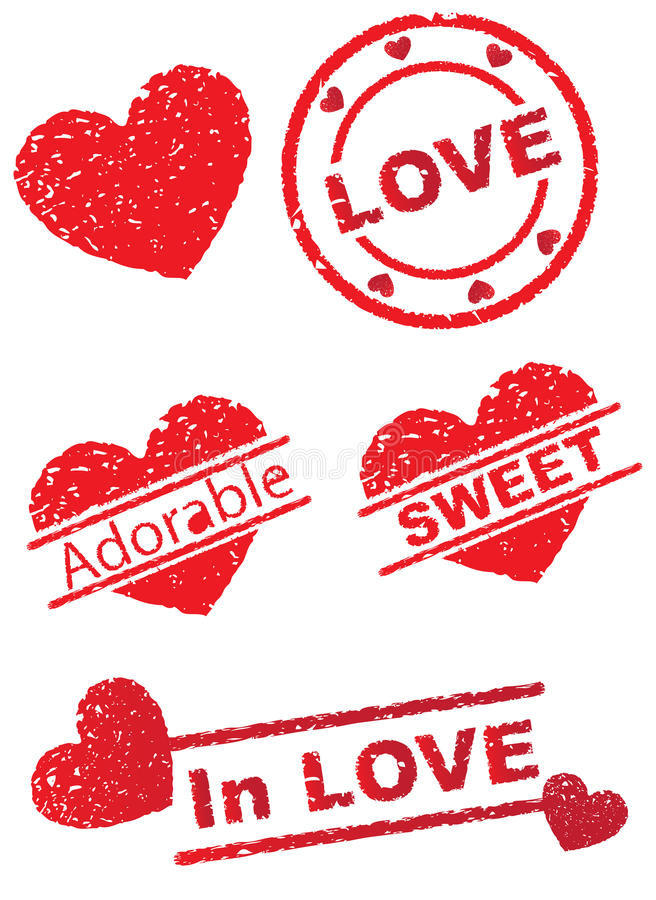 Stamp of Love royalty free illustration