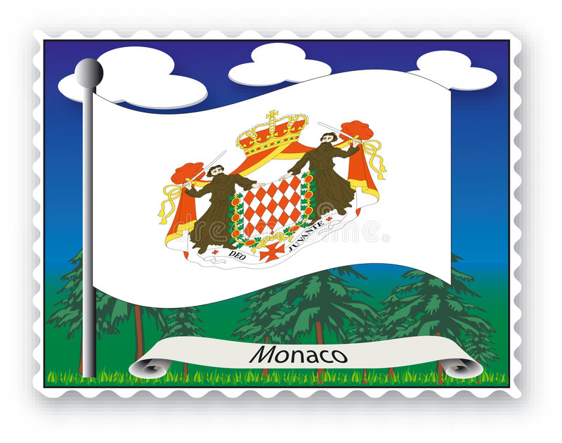 Download Stamp Monaco stock vector. Illustration of mail, round - 3524207