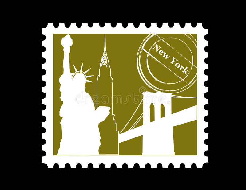 Download Stamp, New York stock vector. Image of symbol, building - 3050726