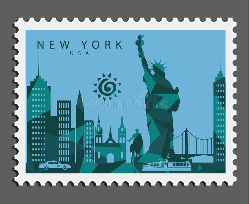 Stamp of New York USA stock images