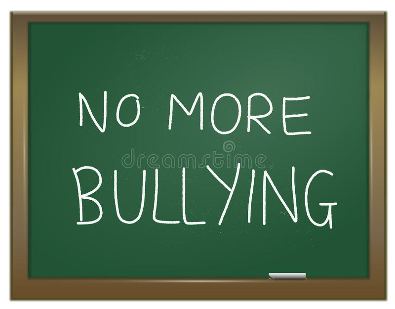 Stamp out bullying. royalty free illustration