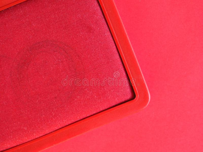 stamp pad with red ink royalty free stock photo
