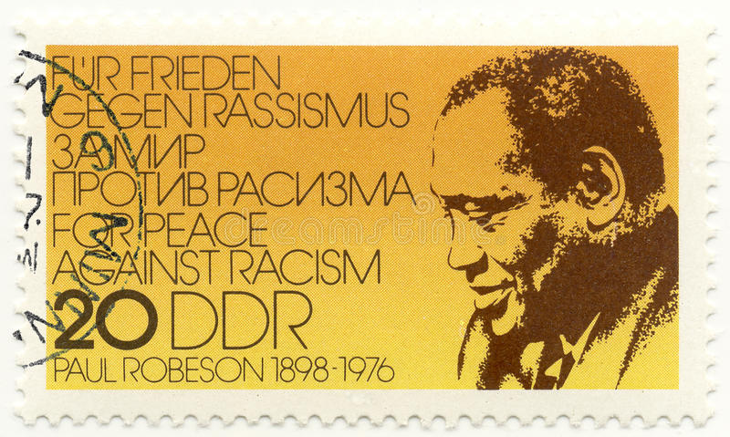 Download Stamp with Paul Robeson editorial stock photo. Image of famous - 10261488