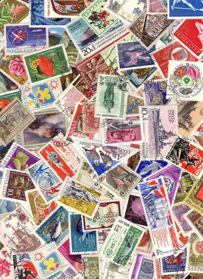 Stamp postage stock image