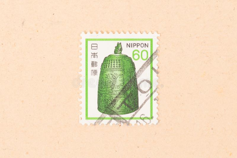 A stamp printed in Japan shows a curious object, circa 1980 royalty free stock images