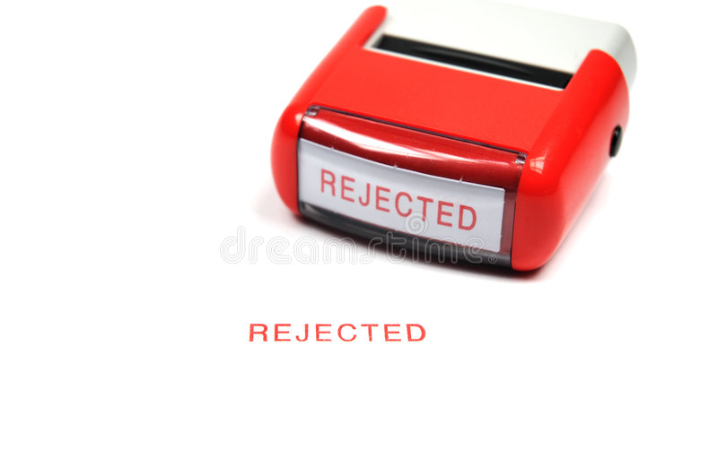 Stamp rejected royalty free stock photos