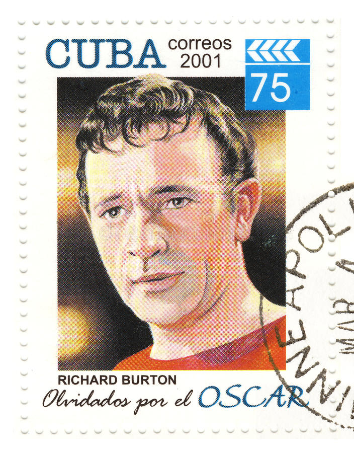 Stamp with Richard Burton royalty free stock images