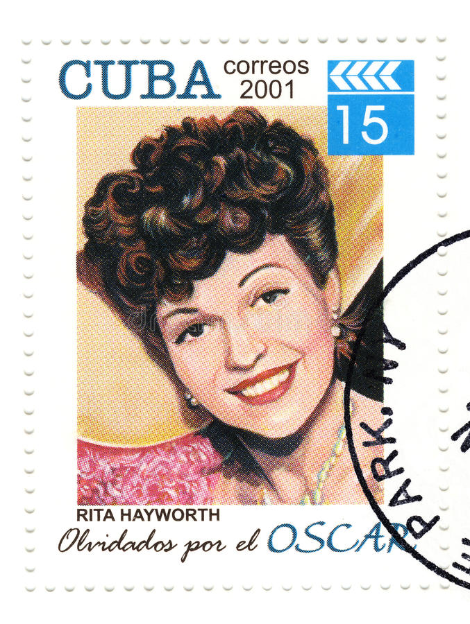 Stamp with Ryta Haywort stock images