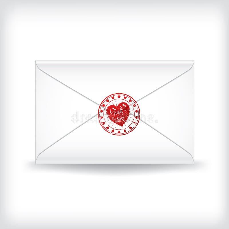 Download Stamp sealed love letter stock vector. Image of stamp - 18223722