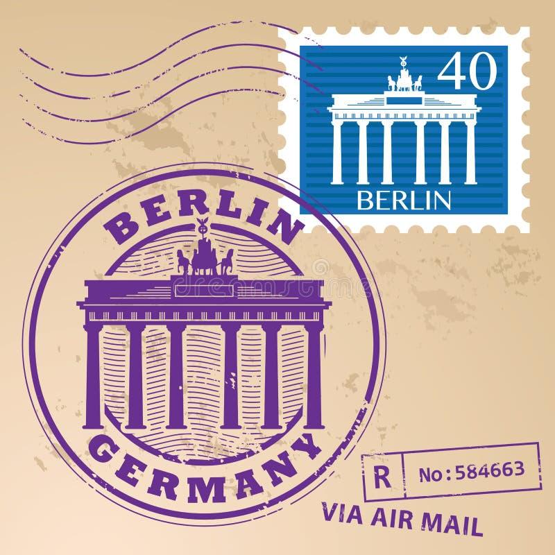 Stamp set Berlin. Stamp set with words Berlin, Germany inside vector illustration