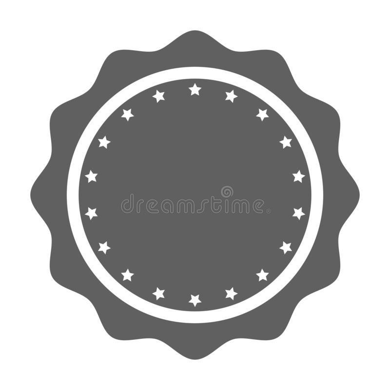 Stamp blank with stars graphic icon stock illustration