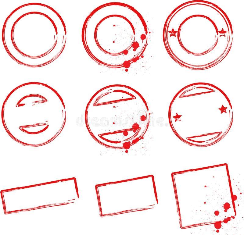 Stamp Templates Stock Photos