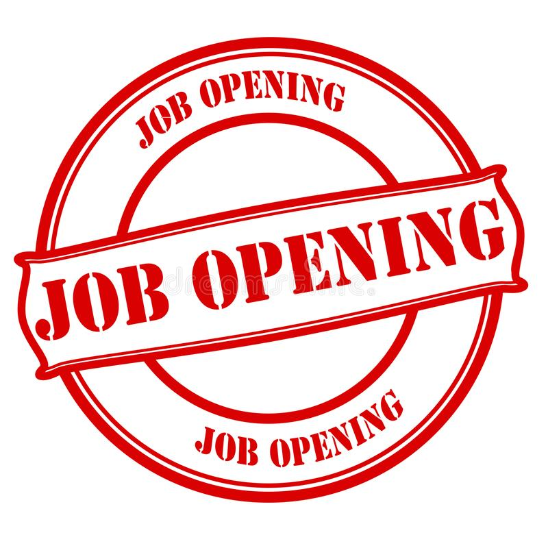 Job opening. Stamp with text job opening inside, illustration royalty free illustration