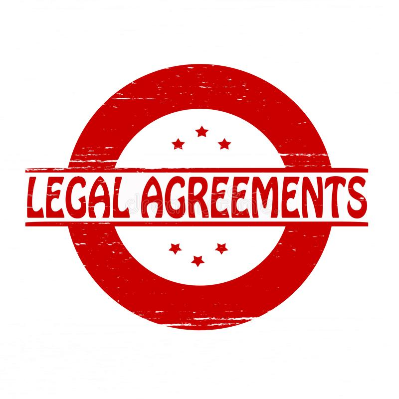 Legal agreements. Stamp with text legal agreements inside, illustration vector illustration