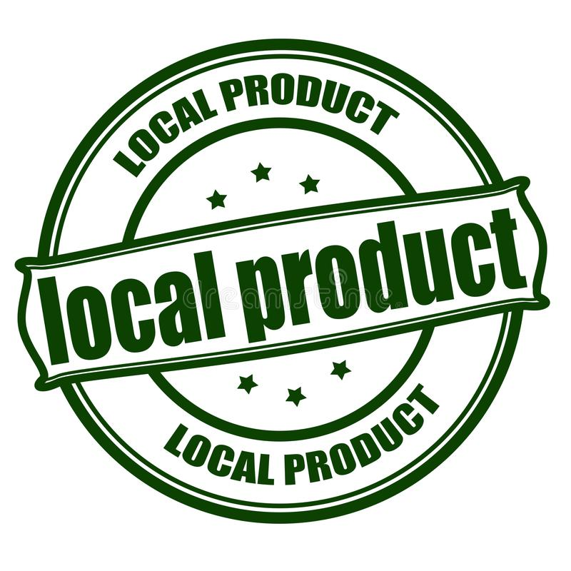 Local product stock illustration
