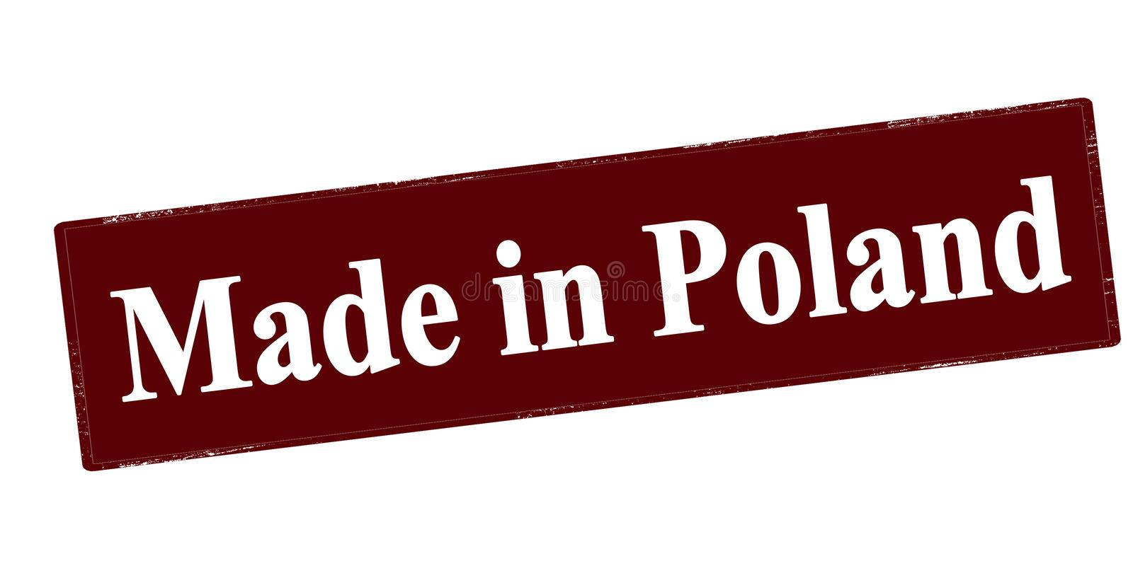 Made in Poland royalty free illustration