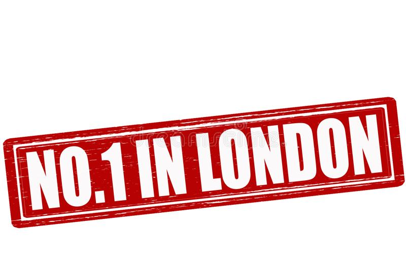 No one in London. Stamp with text no one in London illustration royalty free illustration