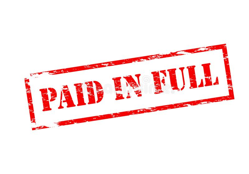 Paid in full. Stamp with text paid in full inside, illustration stock illustration