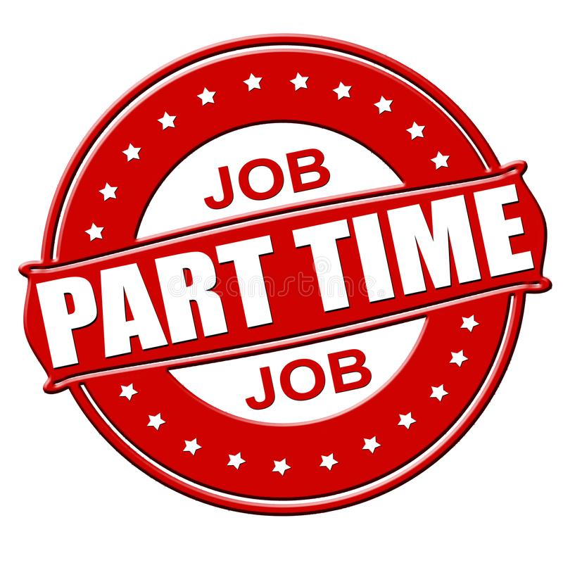 Part timejob. Stamp with text part time job inside, illustration royalty free illustration