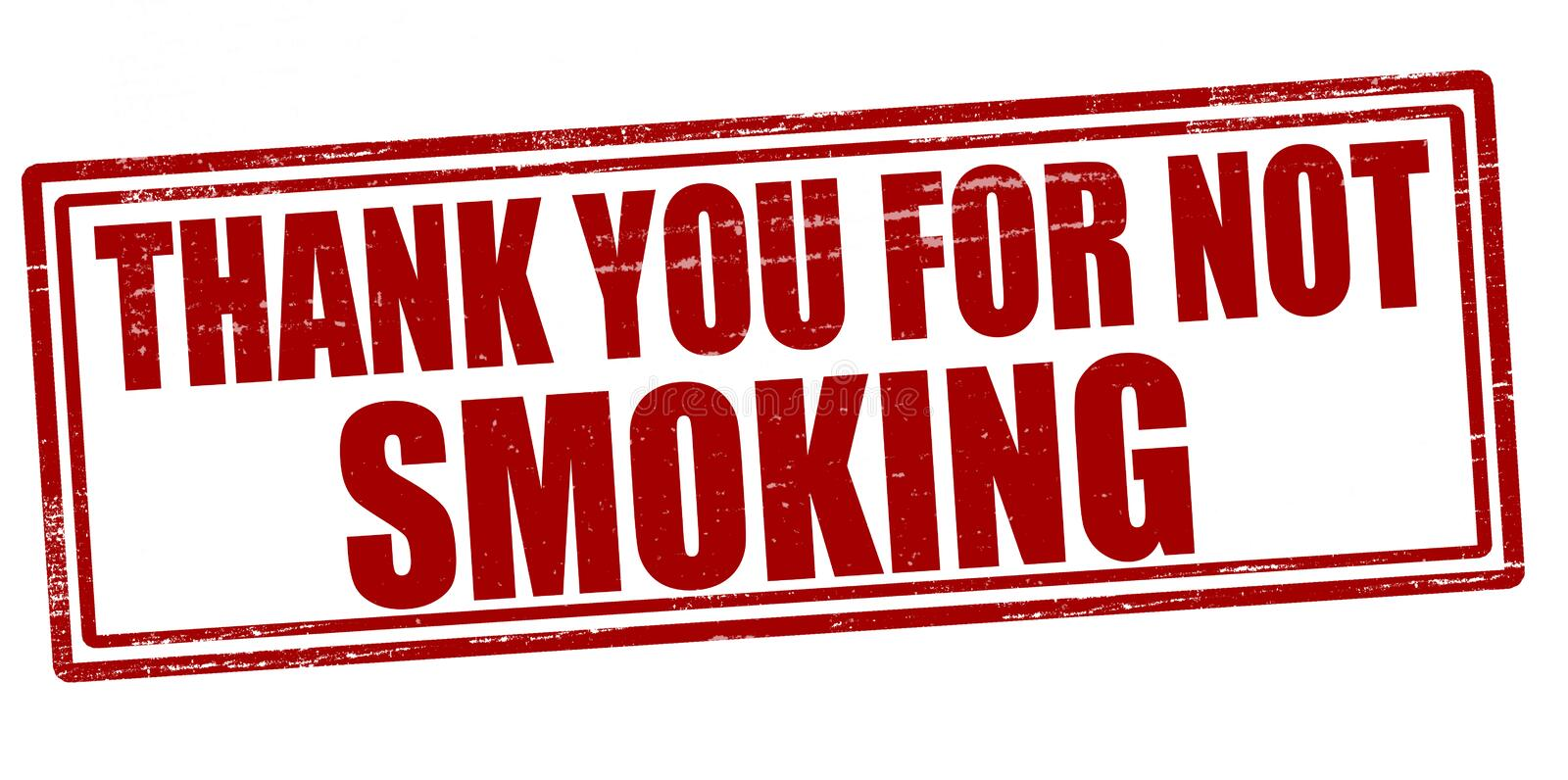 Thank you for not smoking vector illustration