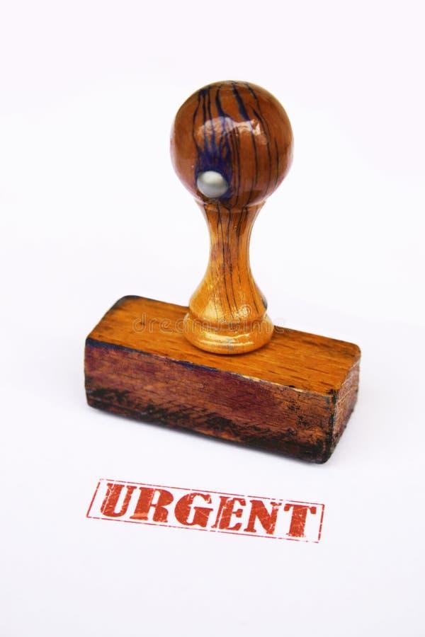 Stamp urgent stock photo