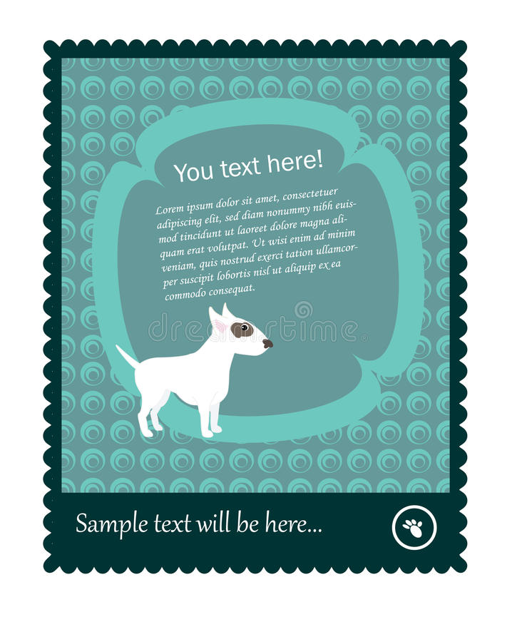 Download Stamp Vector With Bull Terrier Stock Vector - Image: 18360441