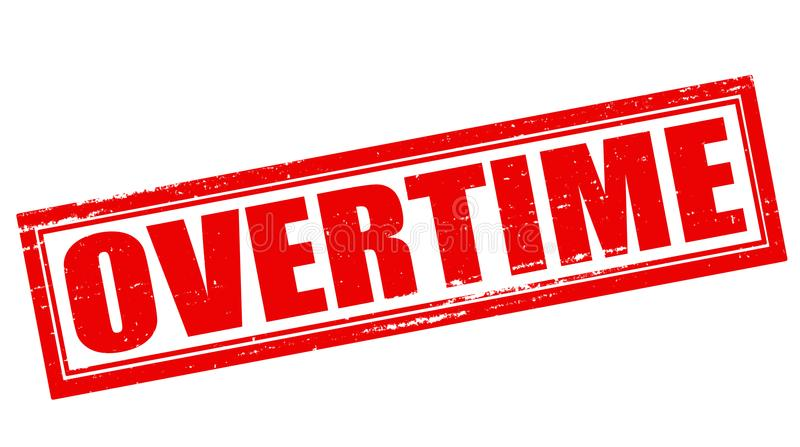 Overtime royalty free illustration