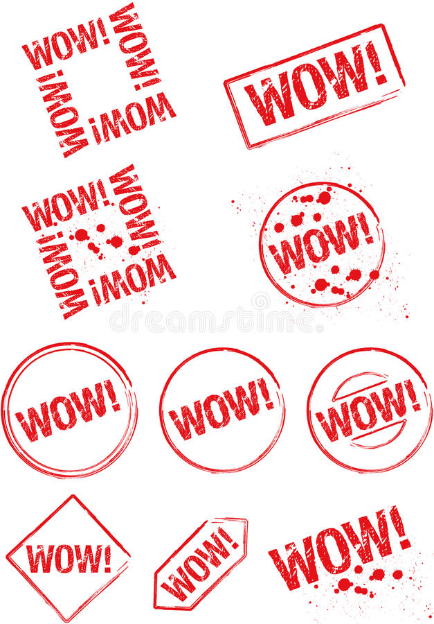 Download Stamp Wow! Stock Photography - Image: 22258152