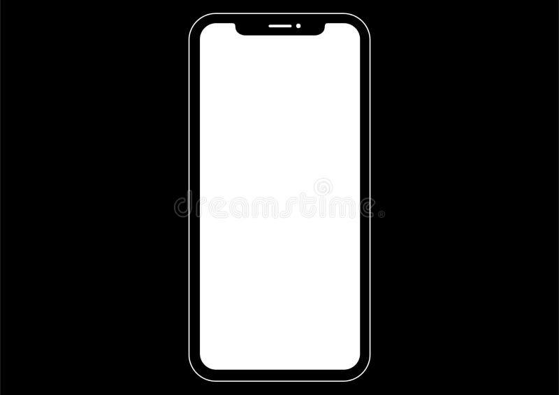 Iphone Smartphone Computer Icon Vector vector illustration