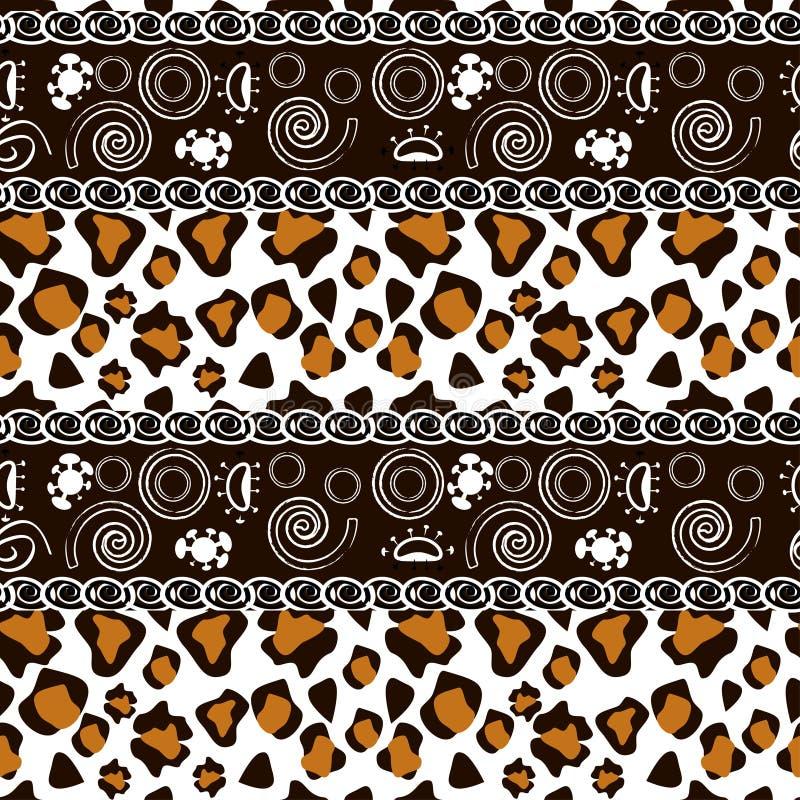 Stampa africana con il reticolo della pelle del ghepardo illustrazione di stock