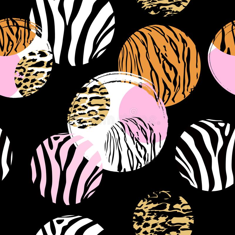 Stampa animale astratta nella forma del cerchio royalty illustrazione gratis