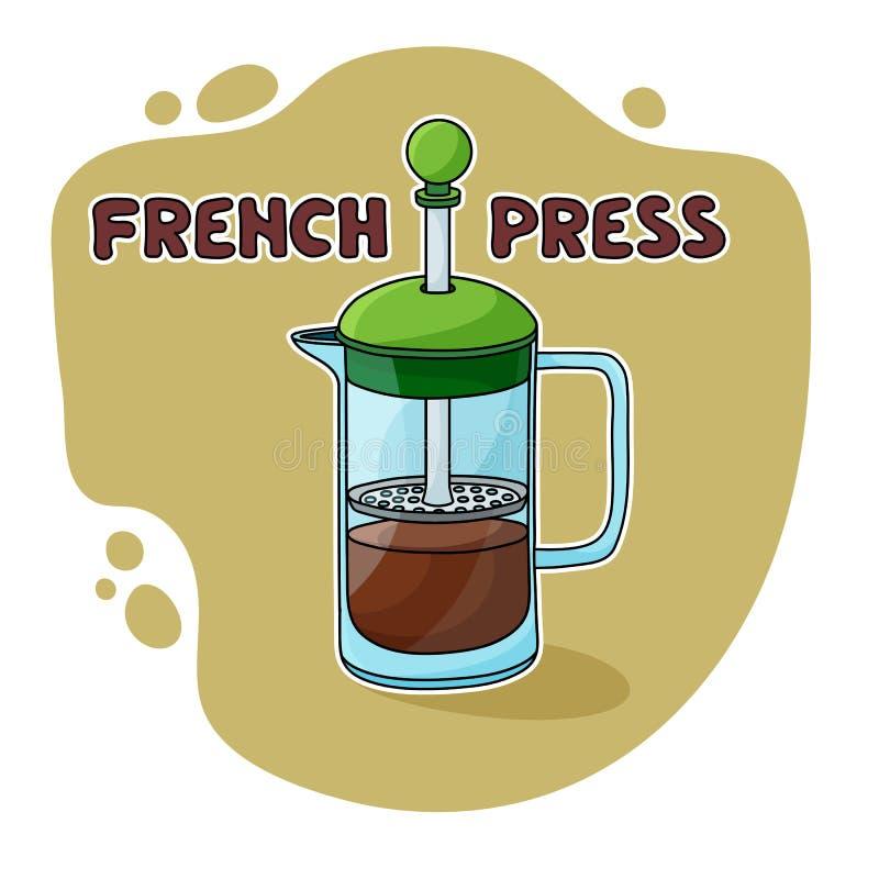 Stampa del francese per fare del caffè fotografia stock libera da diritti