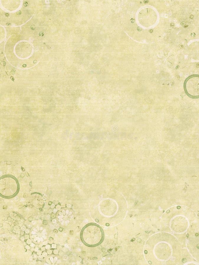 Stampa del gioiello su documento costolato handmade fotografia stock