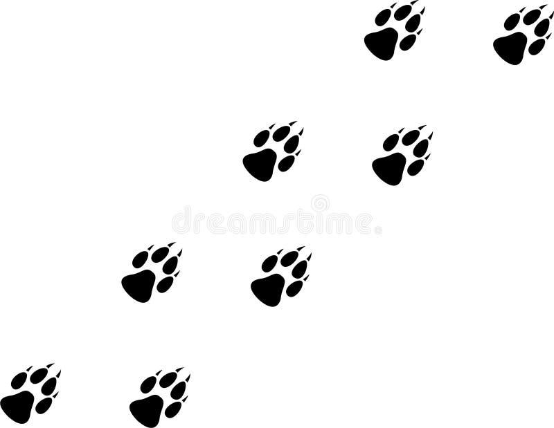 Stampa del lupo illustrazione di stock