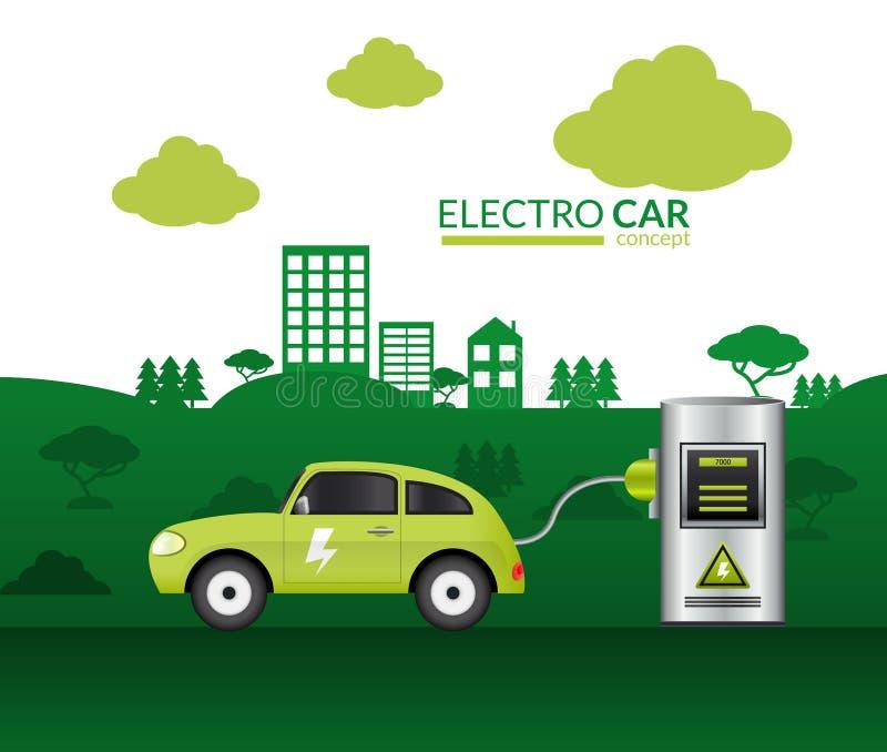 Stampa dell'automobile elettrica royalty illustrazione gratis