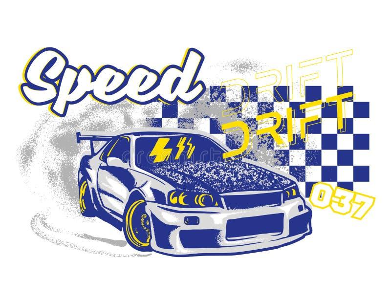 Stampa dell'automobile sportiva royalty illustrazione gratis