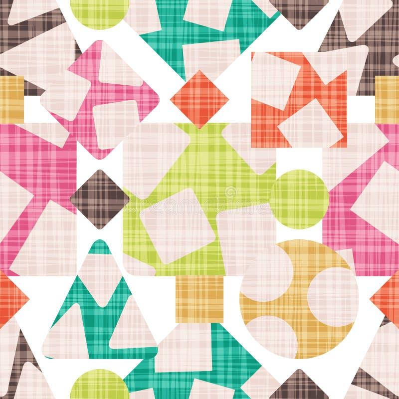 Stampa dell'estratto del panno con l'illustrazione geometrica di forme illustrazione vettoriale