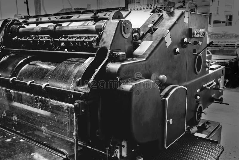 Stampa della macchina a cilindri di litografia della stampante fotografie stock