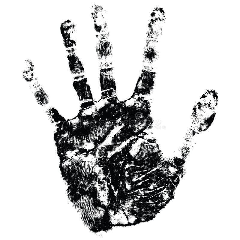 Stampa della mano illustrazione vettoriale