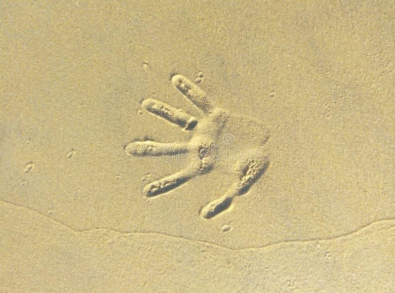 Stampa della mano immagini stock libere da diritti
