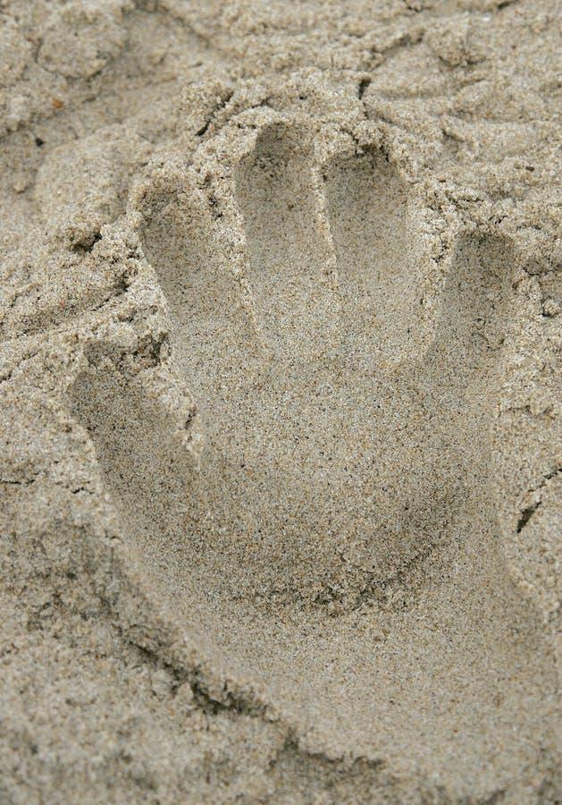 Download Stampa Della Mano Del Sandy Immagine Stock - Immagine di luce, sabbia: 7306125
