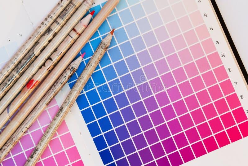 Stampa della scheda di colore immagine stock libera da diritti