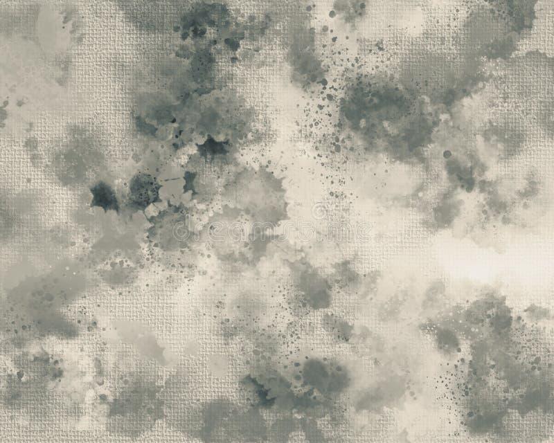 Stampa della tela Macchia delle pitture acriliche Fondo dipinto a mano astratto creativo Colpi di verniciatura acrilica su tela A royalty illustrazione gratis