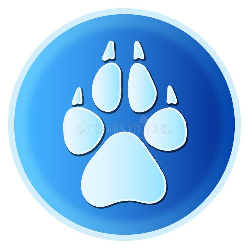 Stampa della zampa del cane illustrazione vettoriale