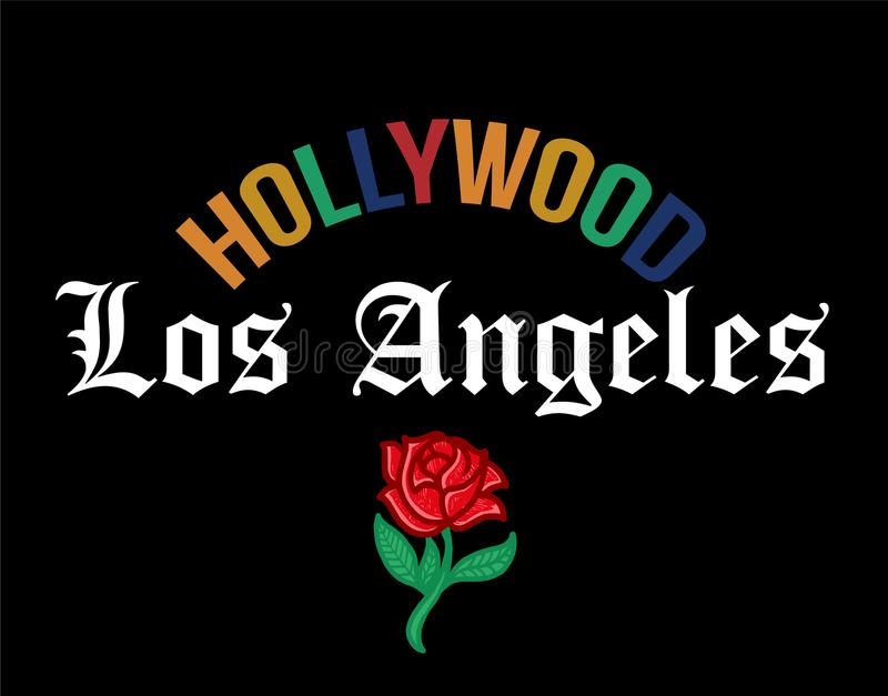 Stampa di HOLLYWOOD Los Angeles royalty illustrazione gratis