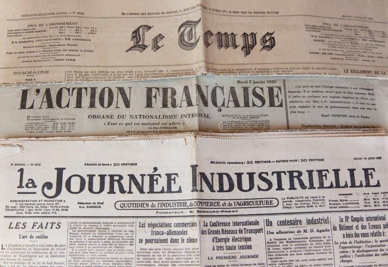 Stampa francese degli anni 20 XX del secolo fotografia stock libera da diritti
