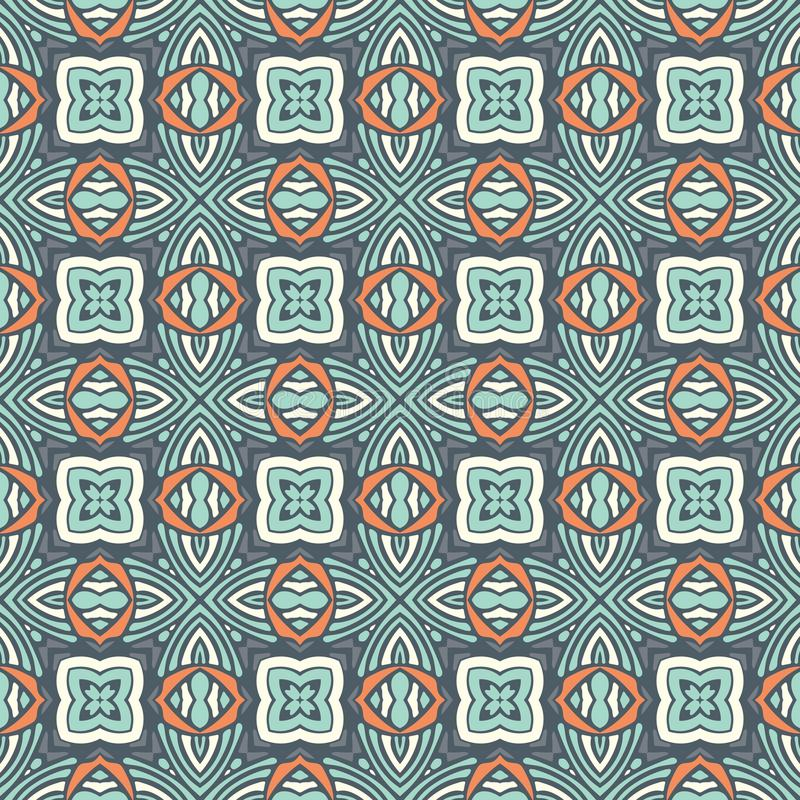 Stampa geometrica senza cuciture del mosaico di Absract illustrazione di stock
